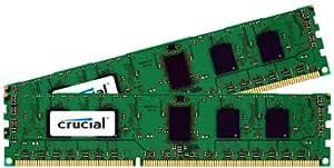 Crucial 16GB (2 x 8GB) DDR3 PC3-10600 Unbuffered UDIMM 240 Pin Memory Module Kit