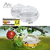 Gardigo Wespenfalle 2er Set I Fruchtfliegenfalle und Wespenfänger aus Kunststoff I Fliegenfalle, Insektenfalle...