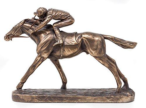 Horse Sculptures Galope Racehorse Jockey Escultura–Figura