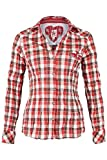 Spieth & Wensky Damen Bluse Crash-Optik kariert rot, rot, 40