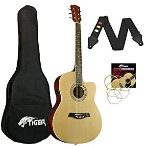 Tiger chitarra elettroacustica, colore nero