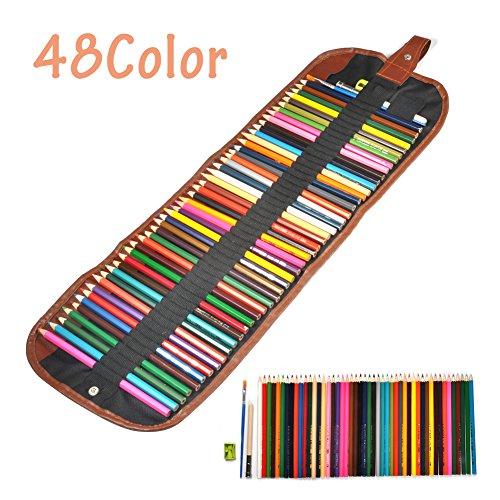 Farbigen Bleistift 48 Farbe sortiert Professional Art Bleistifte Farbstift Wasserfarbe Holz...