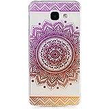 KSHOP Etui cas TPU silicone pour Samsung Galaxy A3(2016)A310 Coque Case Cover Housse de protection Shell avec mince motif imprimé - Saint Indian Flower mandala Violet