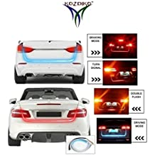 Kozdiko LED Ice Blue & Red DRL Brake With Side Turn Signal & Parking Indication Dicky, Trunk, Boot Strip Light For All Cars