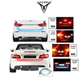 #10: Kozdiko LED Ice Blue & Red DRL Brake With Side Turn Signal & Parking Indication Dicky, Trunk, Boot Strip Light For All Cars