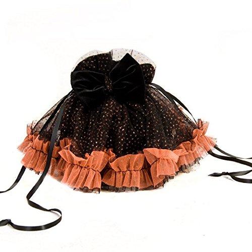 Schätze Kleine Handtaschen (Princess Paradise Handgelenk Beutel Tasche Mini Bag Handtasche schwarz orange glitzernd)