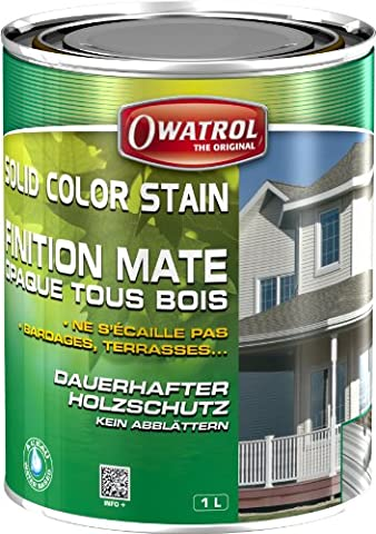 Lasure Blanc Bois Exterieur - Owatrol Solid Color Stain Finition deco mate