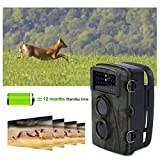LESHP Wildkamera JagdKamera HD Pixels Digital Screen Camera LED IP-Schutzklasse 66 H3W