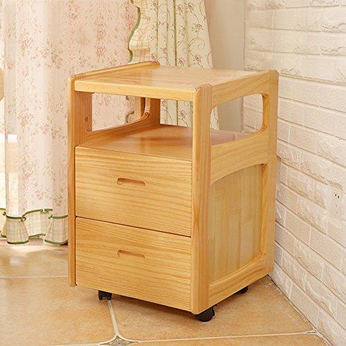 Global-DIY Legno Solido Comodino Pine Mini Bambino