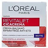 L'Oréal Paris Revitalift Cicacrema Crema Viso Antirughe Idratante Riparatrice Notte con Centella Asiatica, 50 ml