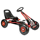 Bopster® Go-Kart a Pedali con Ruote gonfiabili per Bambini - Rosso e Nero