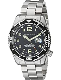 Momentum M50 Mark II - Reloj analógico de caballero de cuarzo con correa de acero inoxidable plateada