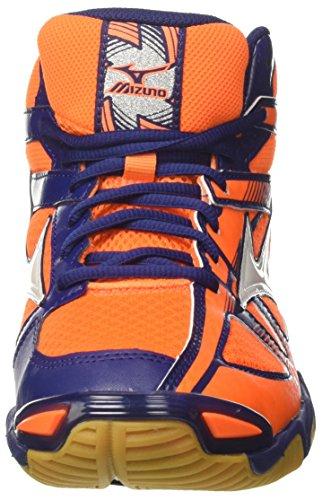 Mizuno Wave Bolt 6 Mid, Scarpe da Ginnastica Uomo, Arancione