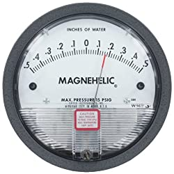 Dwyer Magnehelic Differential Pressure Gage, 2300-00, Range: 0.125-0-0.125w.c.