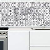 Walplus wt1531 -purbeck Pierre Carreaux Mural stickers-15 cm x 15 cm-24 pièces..., mélange, 15cmx15cmx0.02cm