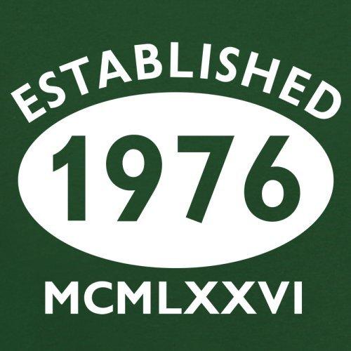 Gegründet 1976 Römische Ziffern - 41 Geburtstag - Herren T-Shirt - 13 Farben Flaschengrün