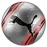 PUMA Big Cat 3 Ball Balón de Fútbol, Adultos Unisex, Silver-Nrgy Red Black, 5