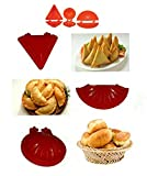 Track India Combo of Plastic Kitchen Magic Press 8 Tools with Kachori Maker, Samosa Maker, Gujiya Maker, 2 Ladoo Maker, Modak Makers, Pastry Cutter, Stainless Steel Menduwada Maker (Multicolour)