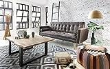 Möbilia® Exklusives Schlafsofa mit Zwei Kissen, Braun, abgestepptes Design, Gestell aus Holz, 100%...
