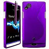 Sony Ericsson Xperia Arc Étui HCN PHONE S-Line TPU Gel Silicone Coque souple pour Sony Ericsson Xperia Arc + stylet - VIOLET