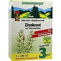 ZINNKRAUT SAFT Schoenenberger Heilpflanzens&#x00E4 3X200 ml preisvergleich bei billige-tabletten.eu