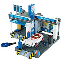 Theo Klein 8647 Bosch Service Car Repair Station with Carwash, Toy, Multi-Colored
