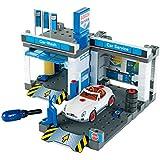 Theo Klein 8647 - BOSCH Autowerkstatt mit Waschstraße, Spielzeug