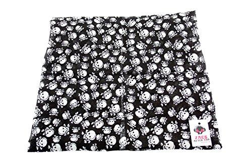 Alter Ego ® Zac's Design tête de mort Bandanas Neckerchiefs, 100%  coton Multicolore - Mini Smiling Skulls