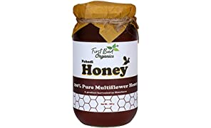 Pahadi Honey by FirstBud Organics -500 gm | Organic Honey | Wild Flora Honey | No Artificial Flavor