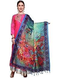 Mrinalika Fashion Cotton Silk Digital Print Dupatta (Dupattas For Womens _Salwar Suit Dgdpt22_Multi-Coloured_Free...