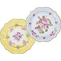 """Talking Tables plato grande vendimia con detalle floral en 6 colores diferentes """"Truly Scrumptious' 'TS4' Cartón. Multicolor"""