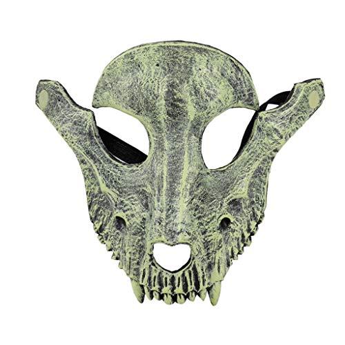 Kostüm Gesicht Schaf - Feinny Unisex Schurken Kostüm Party Ball Halloween Karneval Gesicht Schaf Schädel Maske/20X22CM (20X22CM, Grau)