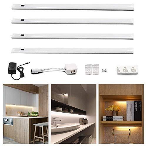 Lustaled 30CM 450 Lúmenes 24W 12V LED Luz Tira Kit con Sensor...