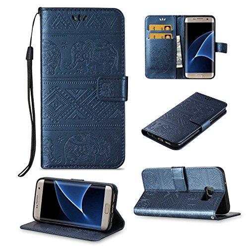 pinlu Funda para Samsung Galaxy S7 Edge Función de Plegado Flip Wallet...
