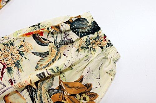 KorMei Pantaloni Vita alta Harem casuale elastico - Donna Orange