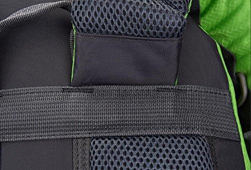 LQABW Wasserdichte Outdoor-Klettern Tourismus Oxford Tuch Polyester Atmungsaktiv Durable Wandern Camping Bergsteigen Rucksack Tasche darkblue