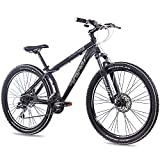 26' Zoll ALU MOUNTAINBIKE DIRT BIKE CHRISSON RUBBY mit 24G ACERA schwarz matt 2016