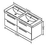 Burgbad Waschtischunterschrank zu V&B Subway 130cm Doppel 61311x, WUBU120