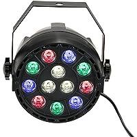 Lixada Luce a sfera per feste pub discoteca/ lampadina LED Rotante multicolore,effetti di colore con luci cangianti , 15W,RGB,12 LEDs