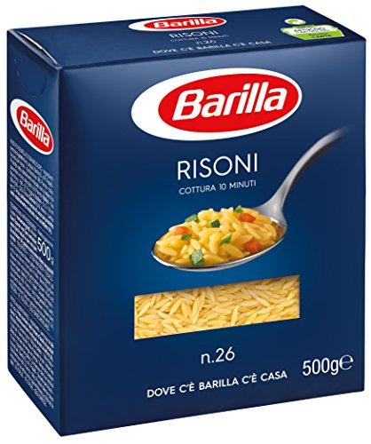Preisvergleich Produktbild Barilla - Risoni n.26,  Pasta di Semola di Grano Duro - 8 confezioni da 500 g [4 kg]