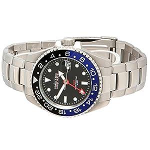 No limit Nautec hombre-reloj jack Fish analógico automático acero inoxidable JKFS-QZ-GMT-STSTBKBL-BK de Nautec No Limit