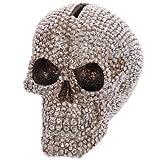 Tirelire Tête de mort crâne serti brillant