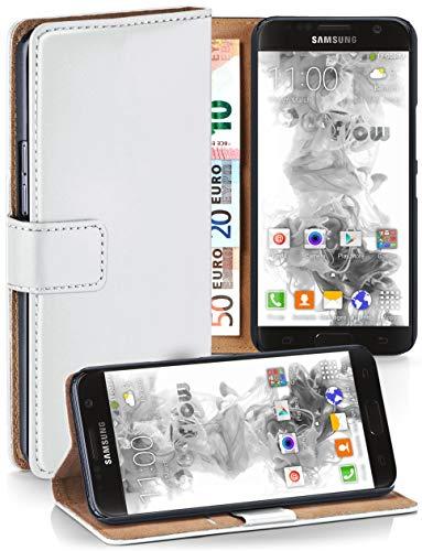 MoEx® Booklet mit Flip Funktion [360 Grad Voll-Schutz] für Samsung Galaxy S7 | Geldfach und Kartenfach + Stand-Funktion und Magnet-Verschluss, Weiß