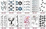 pengweiVerpackung 8 Tattoos Aufkleber Englisch Englisch Pers?nlichkeit niedlich M?nner und Frauen Modelle Universal Tattoo Aufkleber , 3
