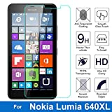 NETBOON® Branded Microsoft Lumia 640 XL Tempered Glass Screen Protector - Anti Explosion, Crystal Clear Screen Guard, Shatterproof, Anti-Scratch Screen Protector, Bubble-free, Oleophobic Coating, 2.5D Round Edge - 9H Hardness Protect Mobile Screen from Scratches, Dirt, Dust, Bumps, or any unwanted wear and tear