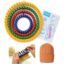Redonda para tejer telares efly Juego de 4diferentes DIY Kits de ganchillo herramienta redonda clásica de plástico redonda Círculo gorro Knifty tejer telares de punto para niños y adultos