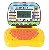 #5: Prasid Smart Lovely English Learner Kids Laptop, Yellow/Brown