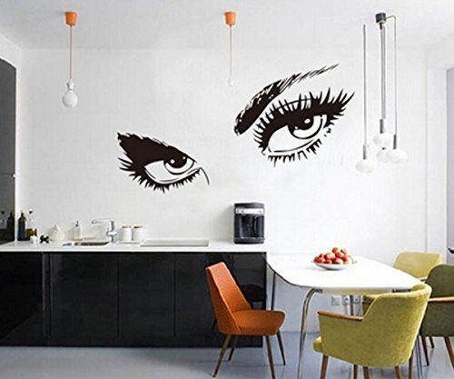 ACEFAST INC Audrey Hepburn 's Augen abnehmbare Vinyl Wand Aufkleber Wandbild Home Art Aufkleber Kids Room Decor (Acefast Inc)