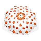GUKENQ Regenschirm für Herbstblätter, Streifenhörnchen, leicht, UV-Schutz, Sonnenschirm, Winddicht, faltbar, kompakt