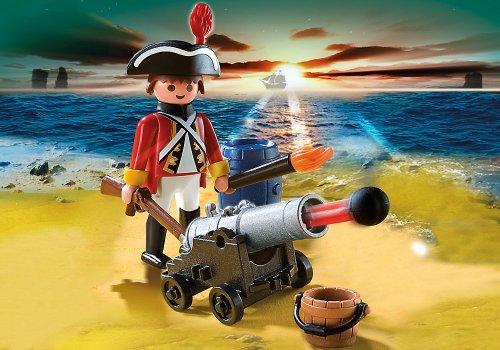 Imagen 3 de Playmobil - Piratas Soldado Con Cañón (5141)